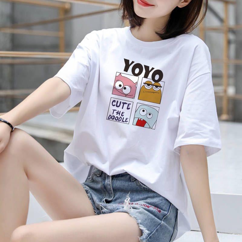 stile o85Lt 2020 estate T-shirt dimensione popolare coreana Internet Celebrity margherita ins delle donne T-shirt a maniche corte superiore di moda grandi donne 6InLA'