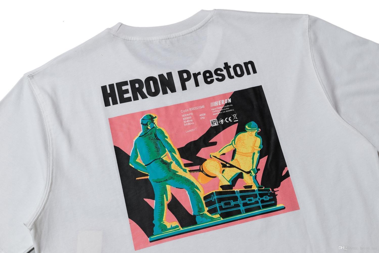 garça desenhador camisas preto branco luxo Off Cotton clássico Graffiti Casais cima imprimir camisas Projetado tee Tendência Europa US Tamanho S-XL SONE