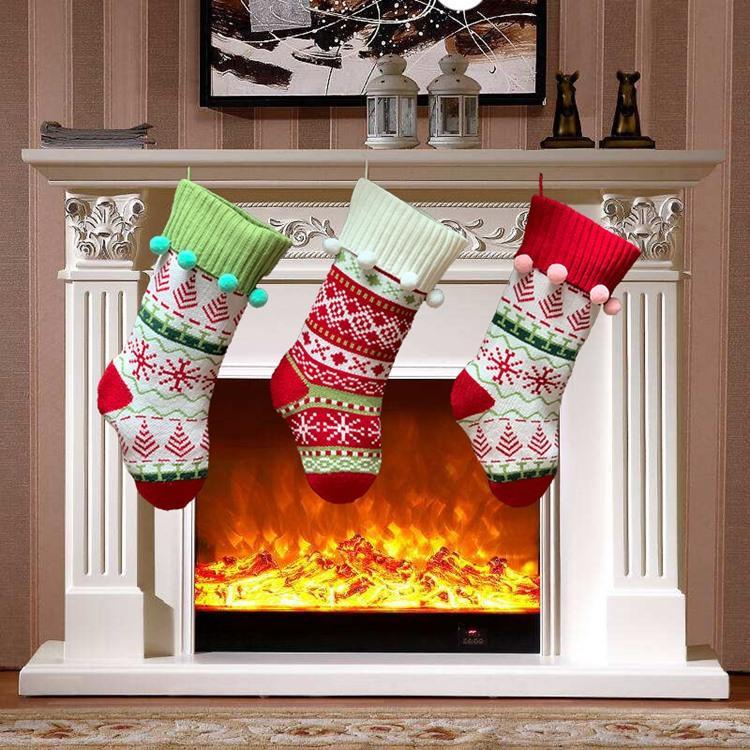 Горячие 3 Стиль Рождества декорация интерьера носков подарок сумка семья вязание жаккардового рождественские декоративные носки ноги Носок T50039