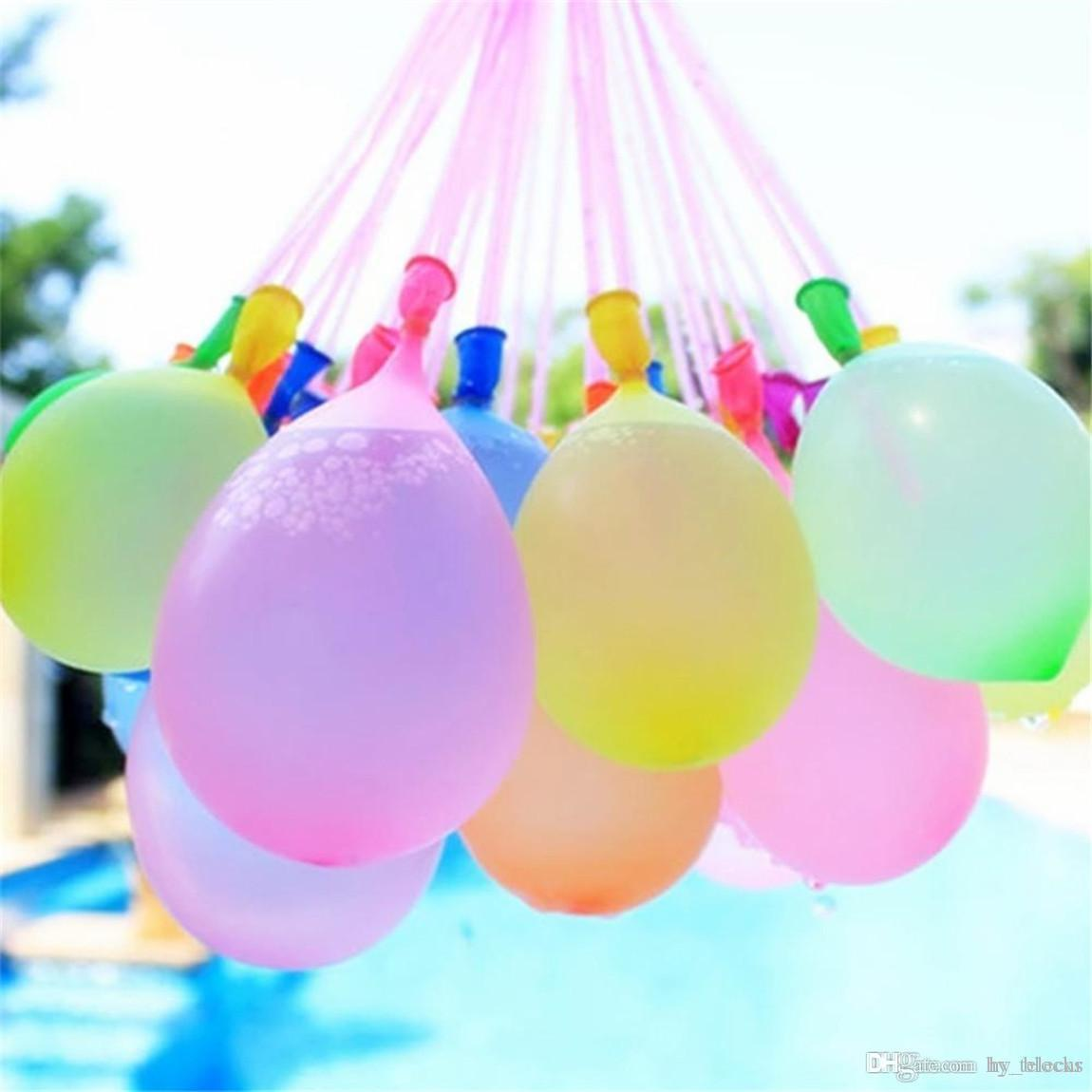 111Psc Colorful Water Filled Balloons Summer Children Garden Party Outdoors Play In The Water games For Kids Toys Fast Easy Filling Water 03