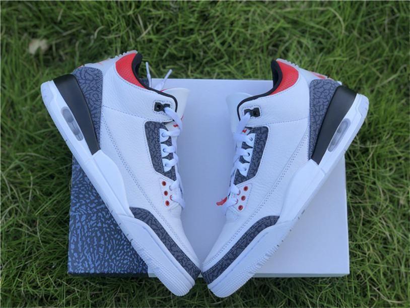 Выпуск воздуха Аутентичные 3 SE DNM Огонь Красный OG Denim Баскетбол обувь Мужчины Белый Черный Cement кроссовки Спорт на открытом воздухе с Origianl Box США 7-13