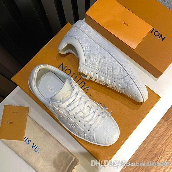 Le scarpe casual piattaforma di moda di basket maschile aiuto basso superstar classiche di goffratura di lusso in pelle scarpe sportive Con scatola originale