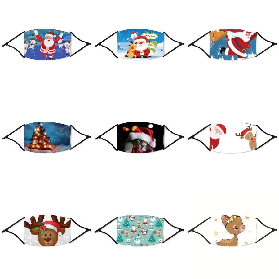 Anti Staub Gesichts Mund Er PM2.5 Weihnachten Maske Staubdichtes Waschbar Wiederverwendbare Ice Silk Designer Weihnachten Maske Werkzeuge RRA2928 # 822