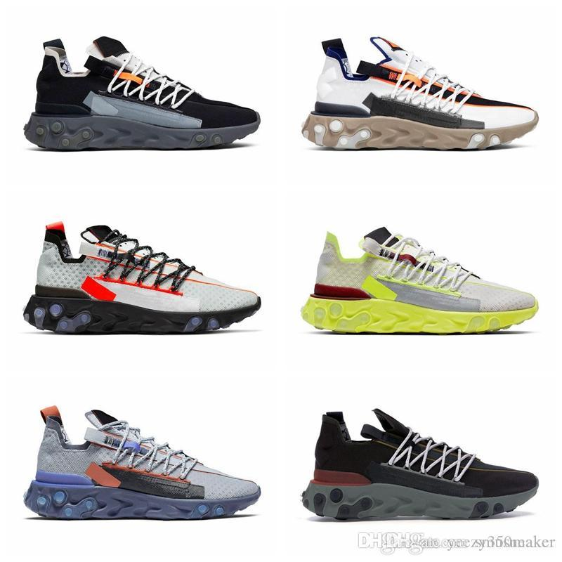 Reagir ISPA WR For Men Women Running Shoes Fantasma do Aqua lobo cinzento Platinum Volt Summit branco dos homens instrutor Moda Sports Sneakers Tamanho 36-45