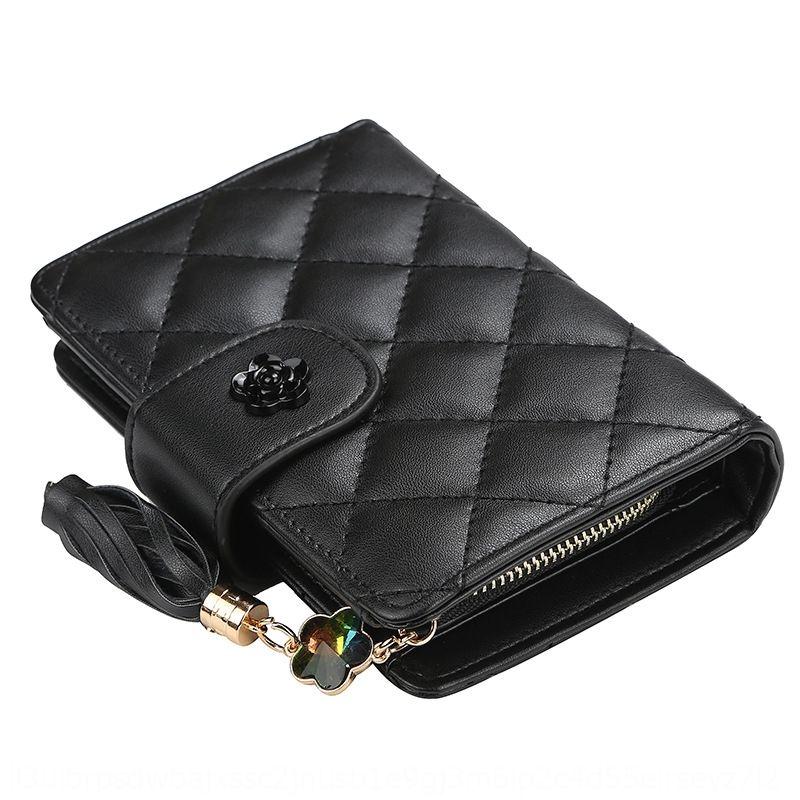 BqnPS baellerry women's multi-functional zipper tassel fashion all-match card bag Korean style Card bag wallet wallet coin purse for women