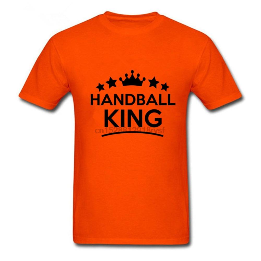 Lustige Handball König Herren T-Shirt Big Size 3XL T-Shirts Mode-Männer 2018 Männer Hip Hop-T-Shirts für Freund