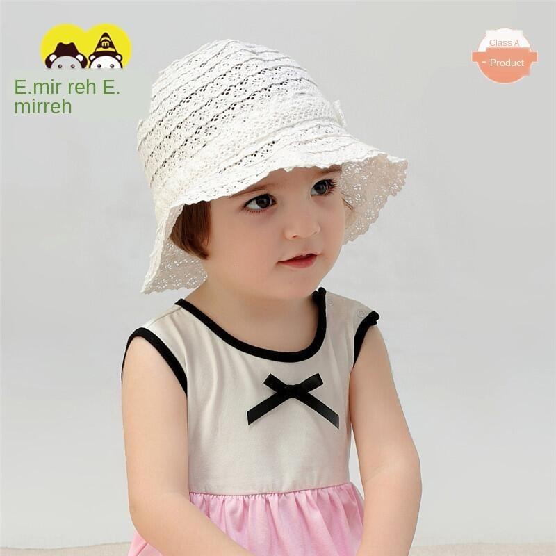 Yimi pêcheur chapeau bébé chapeau printemps et en automne mince bébé fille chapeau de pêcheur de protection solaire 1-6 ans chapeau de soleil de coton pour les enfants