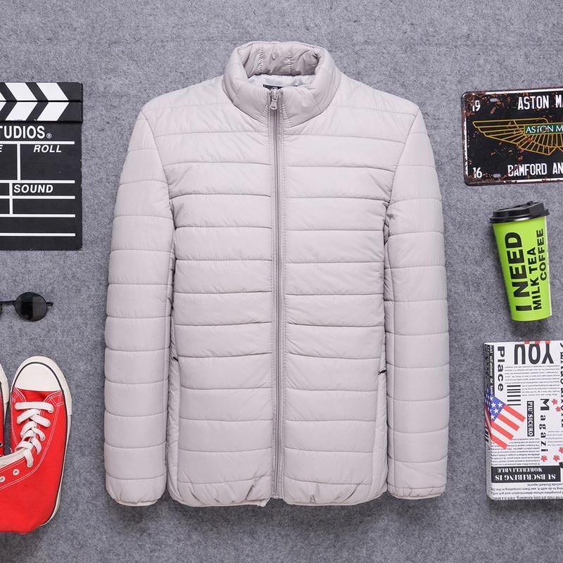 Зима Осень Мужчины Ultralight куртка белая утка вниз пальто Мужчины пуховики зима Мужчины Повседневная JacketCoat Теплый Parka 5XL