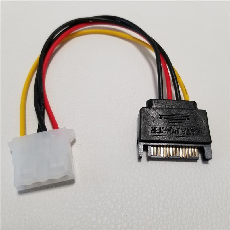 SATA 15Pin к IDE Plus 4Pin Адаптер питания Кабель питания компьютера SATA кабеля 10 см