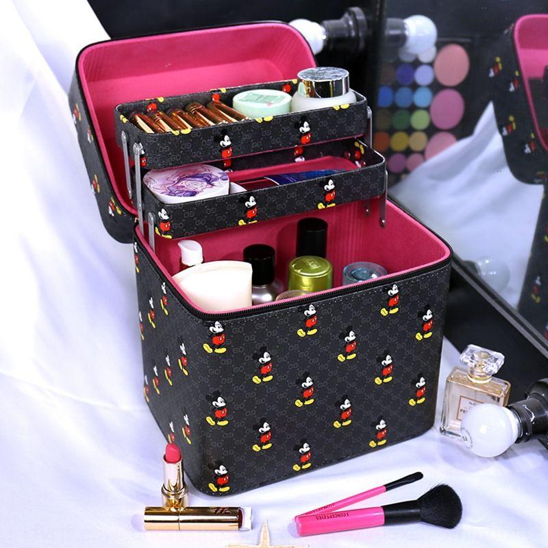 psCOF grande capacité sac de sac à double couche boîte à cosmétiques boîte de bagstorage cosmétique multicouche portable boîtier portable bagStorage MdrYS