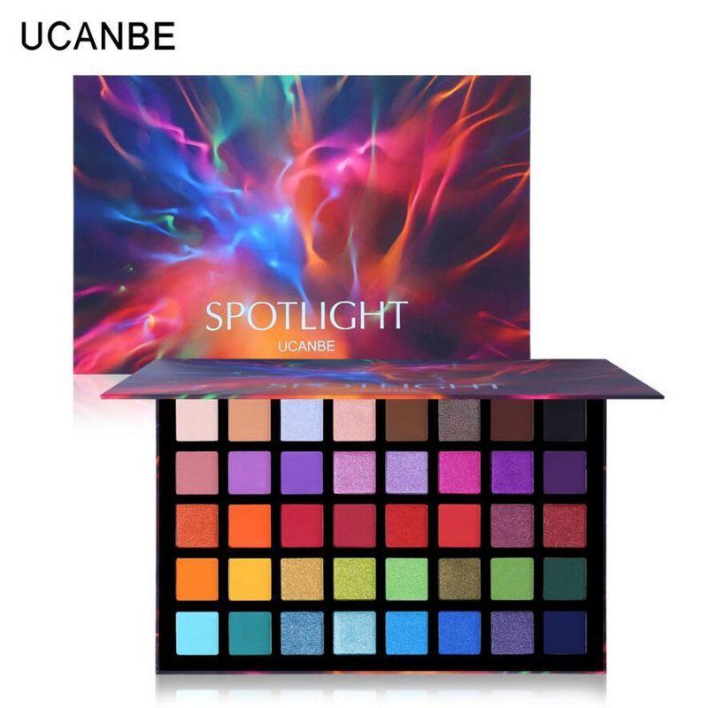UCANBE Spotlight 40 Couleur des yeux ombre palette colorée Artiste Shimmer Glitter Matte pigmenté Poudre Pressée Ombre à paupières Maquillage