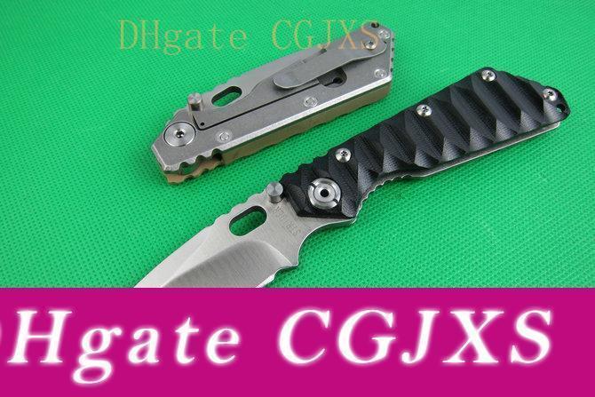 2pcs Strider выживания складной нож 8CR13 сатин каплепадения лезвие G10 Handle Открытый кемпинга Походные EDC Карманные ножи с розничной коробкой