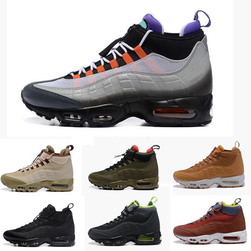 2020 New Fashion Cushion Boots 95s Nero Black Green Brown Caviglia Stivaletti Top Impermeabile Stivali da lavoro Scarpe da uomo Scarpe da ginnastica da uomo Scarpe da ginnastica da corsa all'aperto