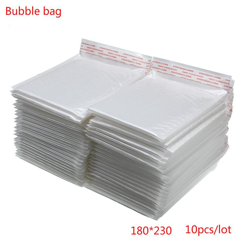 Regalo Wrap 180x230mm 10/20/30/50 PCS / lotto Busta di schiuma bianca Bustina di schiuma imbottita con bolla Mailing Drop