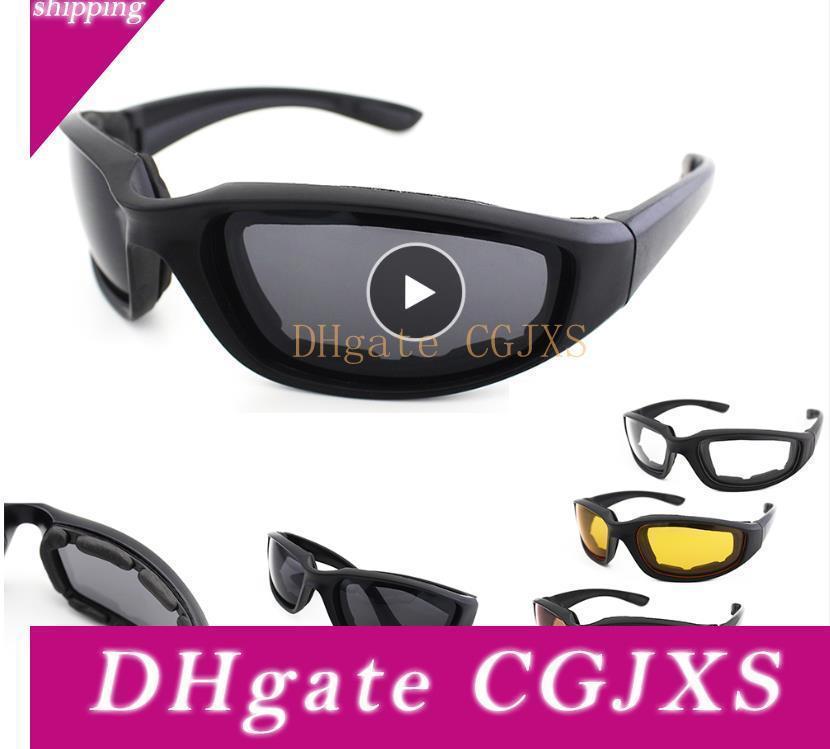 Motorrad-Brille Armee polarisierten Sonnenbrillen Radfahren Brillen Outdoor Sports Fahrradbrillen windundurchlässige Gläser Männer Brillen Freies Verschiffen