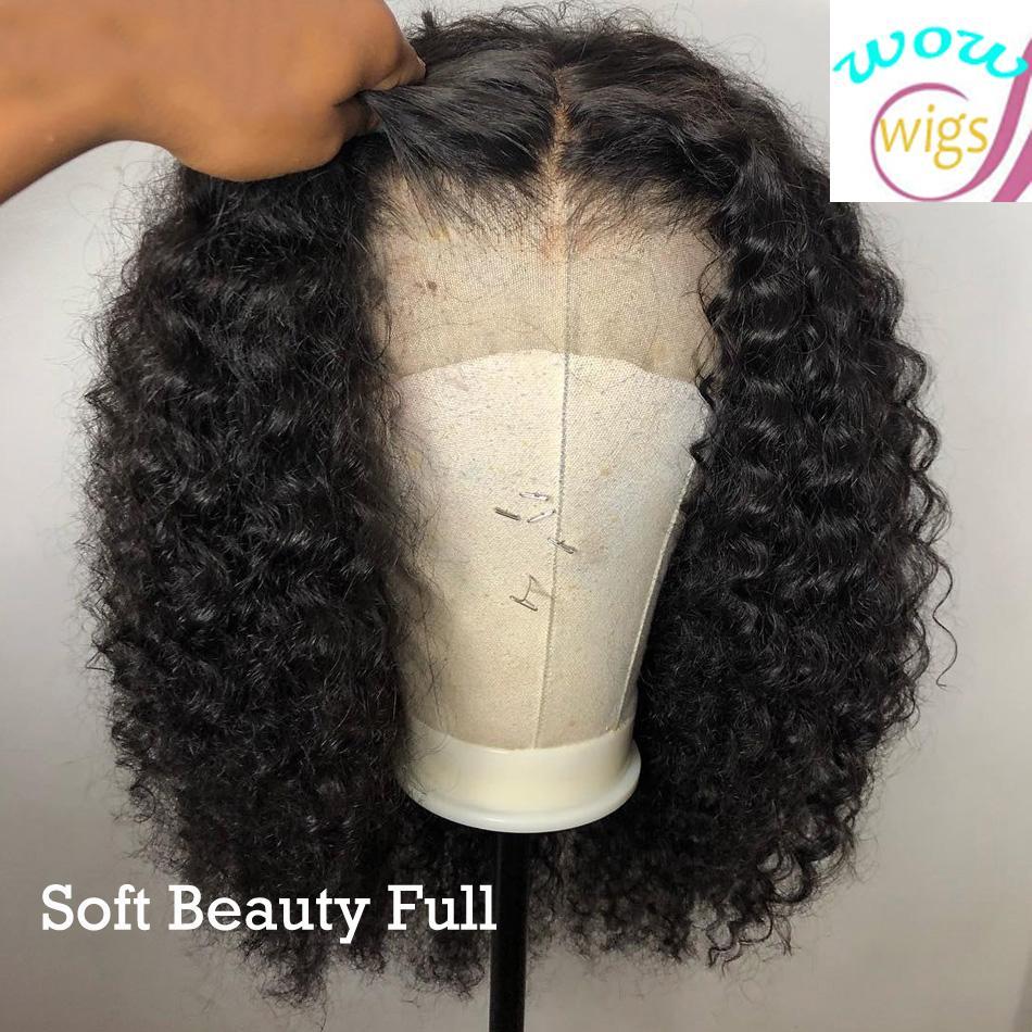 Curly 13 * 4 Lace Front Perücke Brazilianische Kurzfigs Human Hair Perücken Für schwarze Frauen 130% 150% 180% Remy Vorplucked Babyhaare
