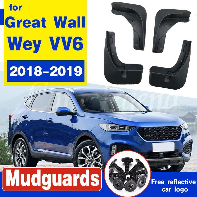 4Pc Auto Schmutzfängern für Great Wall Wey VV6 2018 2019 Mudflaps Spritzschutz Schmutzfänger Kotflügel Fender
