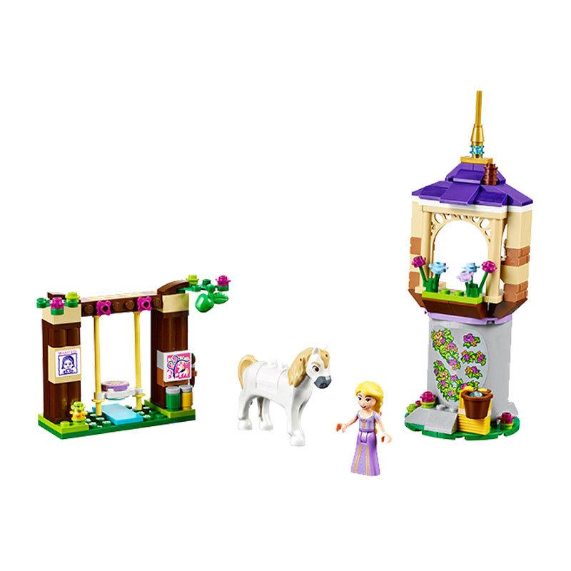 For Princ Rapunzel 148PCS Forest Tower Tangled Castle Movie Blocks Prince Friends House For Girl