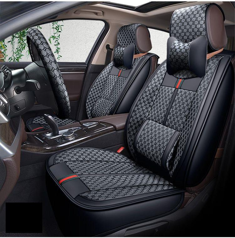 Universal Fit Car Seat Covers For Five Seats Car Full Set Leather Seat Cushion Mat Fashion Design Car Five seats Cover For Sudan SUV