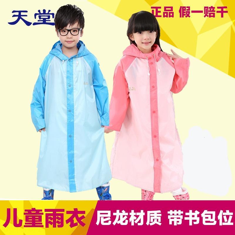 hh0Lv 2d9u7 Paradise Umbrella vêtements pour enfants poncho imperméable avec sac Cartable bébé mâle et femelle corps salopette vêtements de corps Cape STU