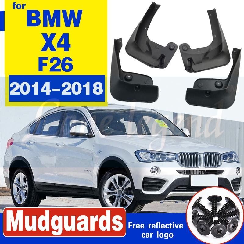 FIT FOR BMW X4 F26 2014-2018 2016 MOLDED mudflaps MUD FLAP SPLASH GUARD KOTFLÜGEL FRONT HECKFENDER ZUBEHÖR