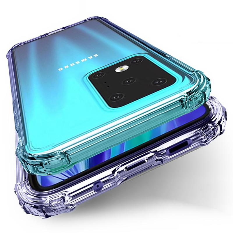 Coussin Air Corners Transparent Ultra Soft TPU silicone Housse pour Samsung Galaxy S20 Ultra S10 E S9 S8 note10 Plus 9 M10 M20 M30