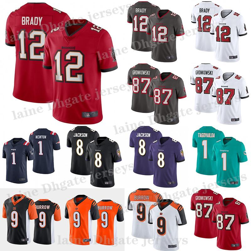 Cam 1 Newton 9 Joe Burrow Tom Brady Rob Gronkowski CeeDee Lamb Tua 1 Tagovailoa Junge Trikot jersey