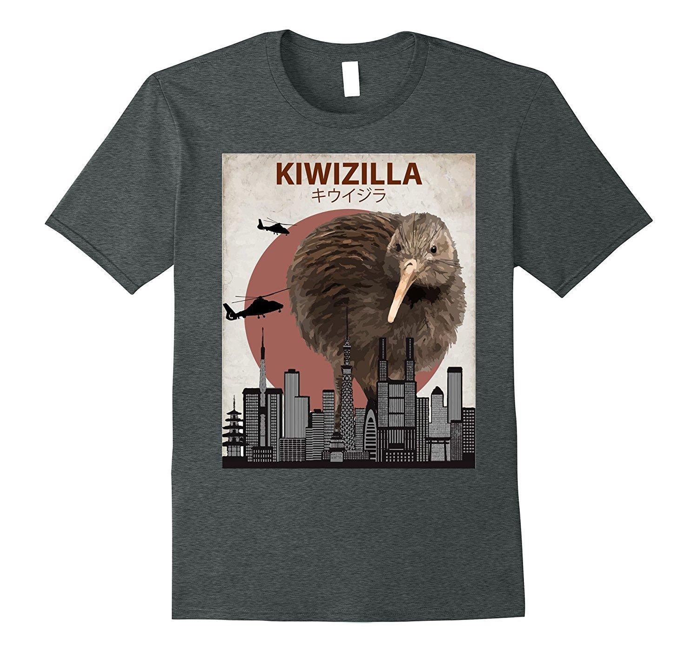 2019 Sıcak satış Moda% 100 pamuk Kiwizilla Komik Kivi Tişört   Yeni Zelanda Kuş Sevenler Hediye Tee gömlek