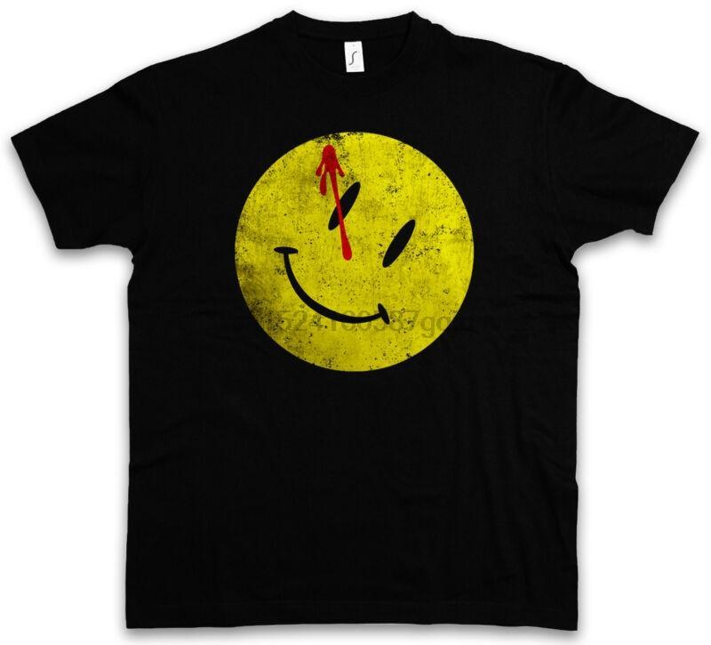 Чертова кнопка Футболка Watchmen Герои Комик Комикс Die Tv улыбка Wchter