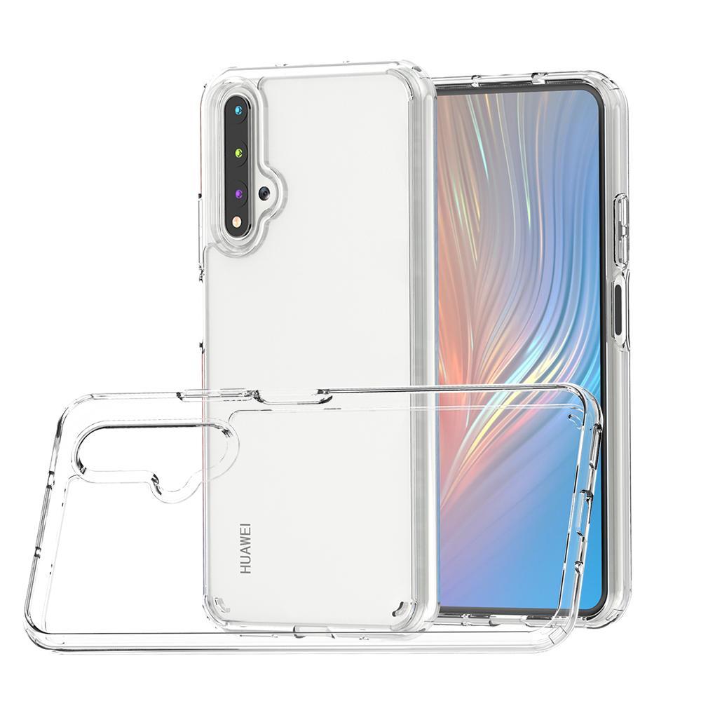 Espessura de 1.5mm claro transparente tampa traseira à prova de choque Acrílico TPU Capa Para Huawei P40 Lite Pro P40 com saco de OPP A