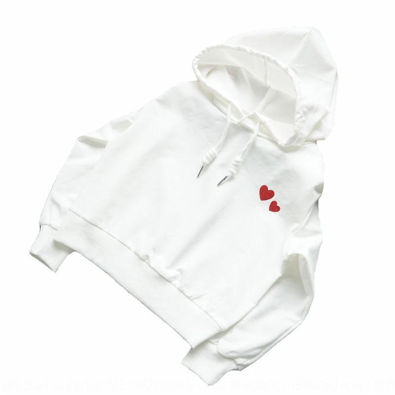 h0JaI Zhongda camisola do hoodie camisola 2020 estação estilo ocidental ilimitado fina Primavera meninas de algodão fino Hoodie longo da luva coreano