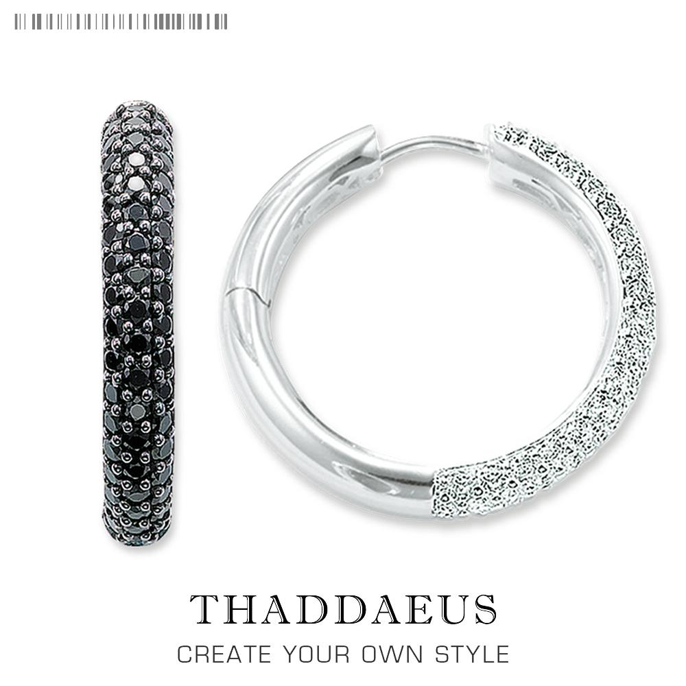 Hinged Hoop Creole Pave Earring,thomas Style Glam Fashion Good Jewerly For Women,2017 Brand New Ts Gift In 925 Sterling Silver J190630