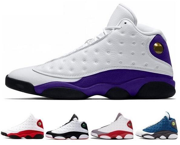 13 13s Nuovo Lakers Rivals scarpe da basket cappello e abito Chicago Hyper Royal Black Cat Flints allevati DMP Uomini NakeskinGiordaniaretros