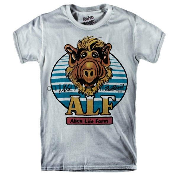 Alf T-shirt de la série TV - Form Lite Alien Cartoon 1986-1990 80'S Vintage