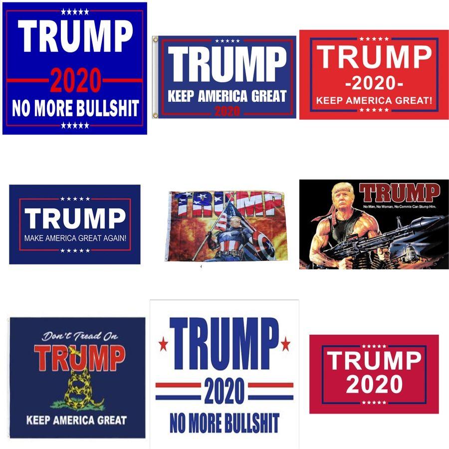 Impresión Digital 3X5Ft Trump Banderas para requisitos particulares con Banderas Diseño Dos ojales 100D Poliéster Flying encargo # 368