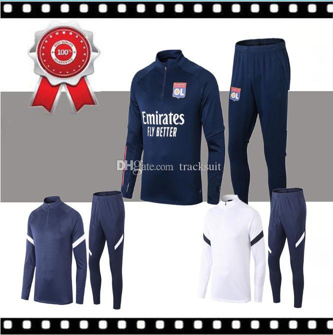 Men 2019 20 Olympique de Lyonnais tracksuit JUNINHO FEKIR Training Suit 19 20 Lyon Training Suit Survetement fooyball jacket Chandal