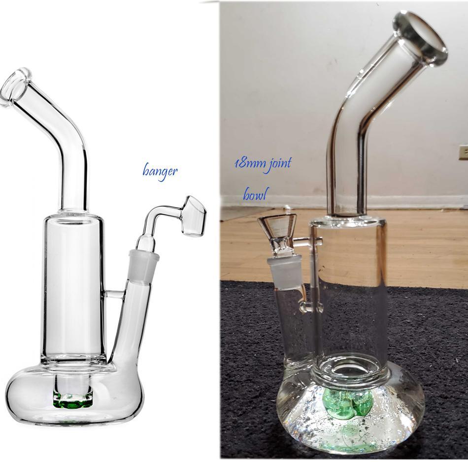 10.8 Inchs Mini grueso de cristal Embriagador reciclador de agua Bong Pipas aparejos de aceite con 18 mm Conjunto Cachimbas Shisha