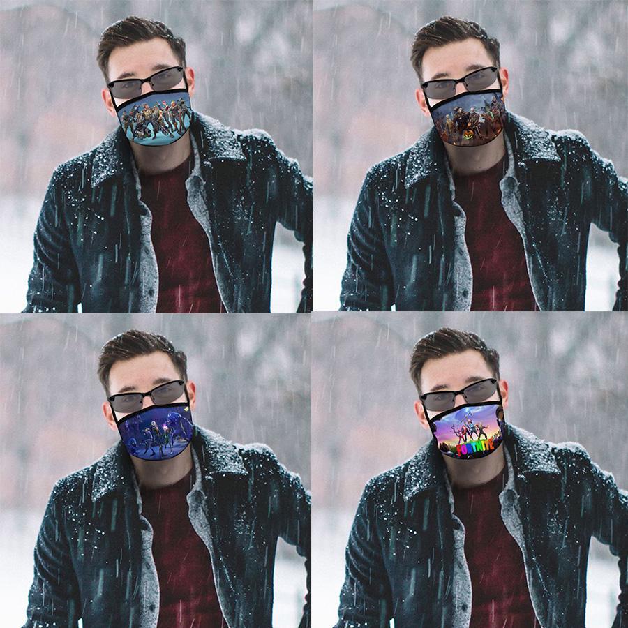 Fortnite модели полноширинная печататься пыль маска с черной рамкой, удобно мыть и повторно использовать, легко носить и свободную epacket судоходство