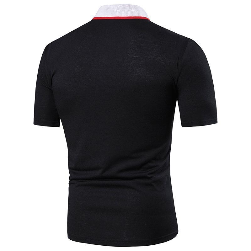 İnce Casual Nefes Katı Renk İş Shirt Yaka Turn-over Moda Tasarımı Erkek Polo Gömlek 2020 Yeni Yaz Kısa Kollu