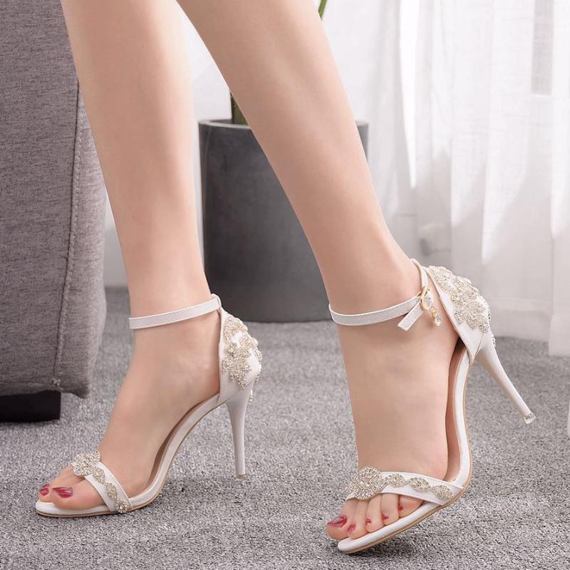 white high heel sandals uk