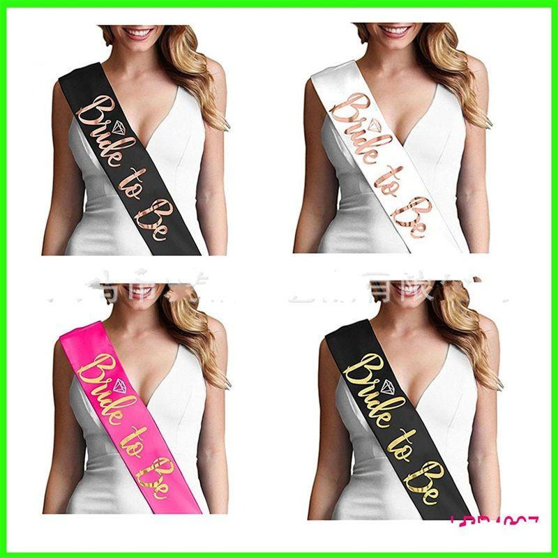 Sash Europa E América Popular Rosa de Ouro criativa Shoulder Strap Partido Único Gilding noiva Etiquette Belt Factory Direct Selling p1 2 5AP