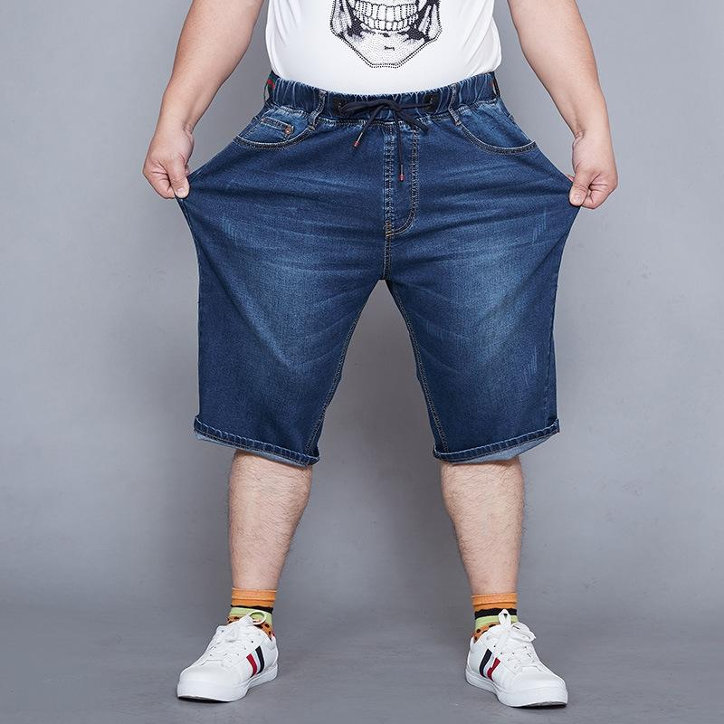 Recadrée et short en denim taille plus lâche été recadrée, plus mince pantalon gras élastique F8GGt taille de pantalons pour hommes