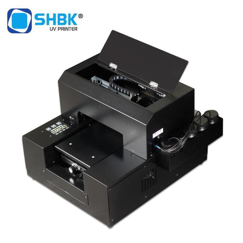 SHBK automática pequeña A4UV universal de impresora plana equipos cáscara del teléfono móvil del espejo mate en relieve 3D personalizado personalizado