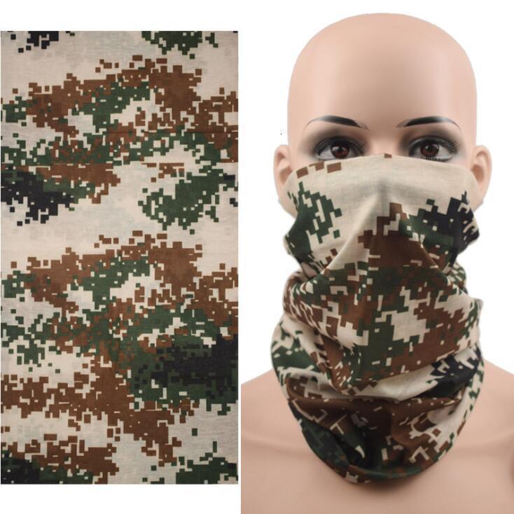 Bufanda mágica al aire libre Ciclismo camuflaje cara a prueba de polvo respirable Bandana hombres de las mujeres protección UV Máscaras diseñador de la máscara Owc1120