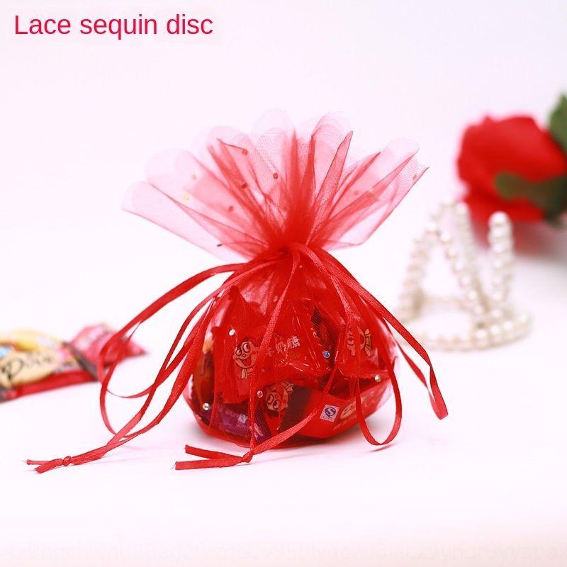 Sac créatif / sequin sac de gaze ronde / sac de bonbons Paillettes / oeuf / sac de bonbons de mariage / séché mariage sac de fleurs
