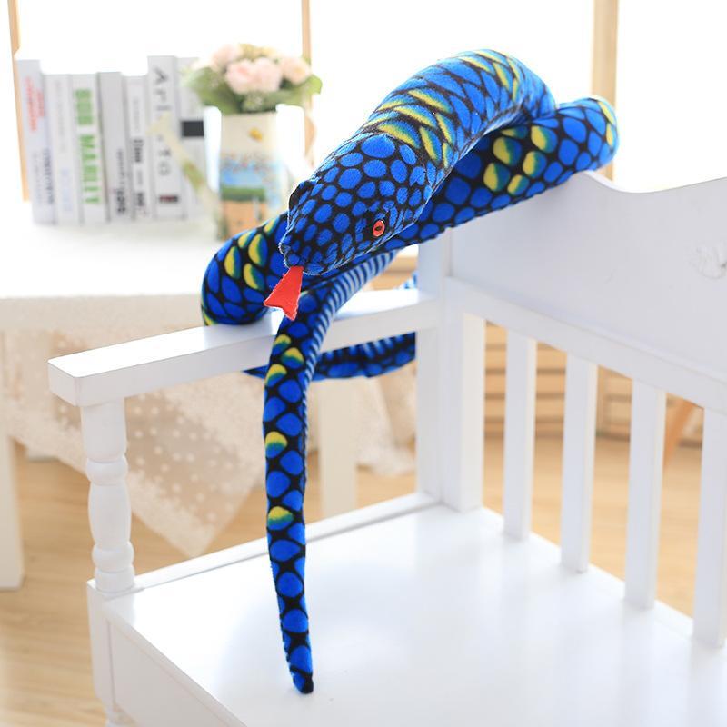 uyku kaliteli bebek büyük Boa yılanı olan çocuklar eğlence peluş oyuncak sevimli yazılım tutma yastık
