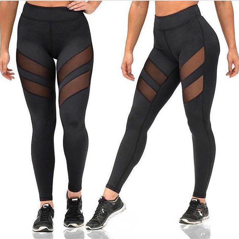 América ropa de la aptitud femenina Europa y el tamaño más rápido pantalones secos de Deportes apretado Hollow Operando Leggings pantalones de yoga