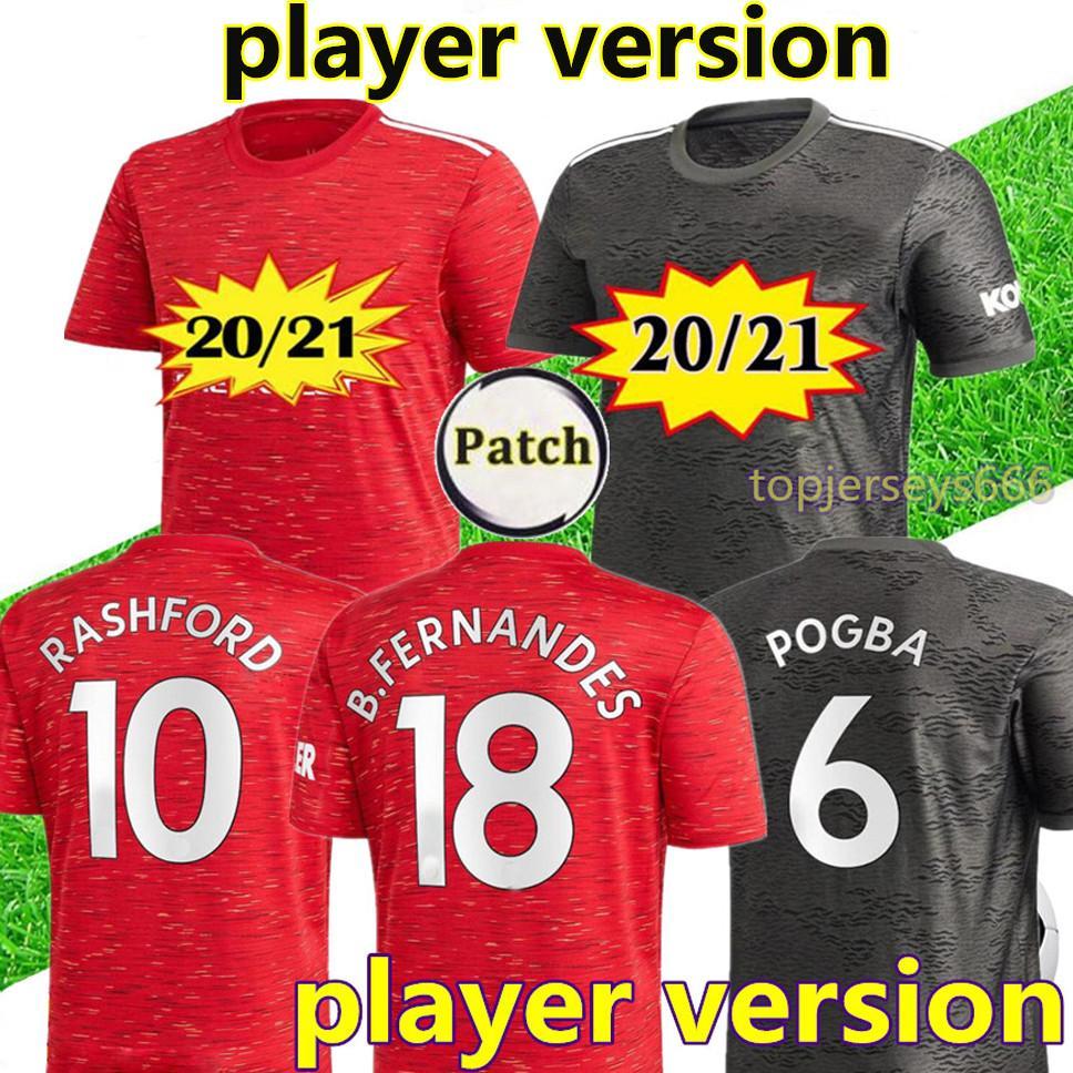 New player version Manchester 2020 2021 united soccer jersey 20 21 FERNANDES RASHFORD Man Utd player version soccer jerseys football shirt