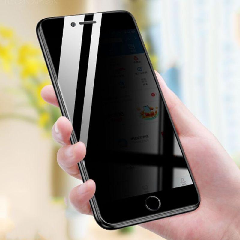 Sekretess Hermed Glass Privat Skärmskydd Premium Film Guard Skyddskurvad täckning Sköld för iPhone 13 Pro max 12 mini 11 xs xr x 8 7 6 6s plus se