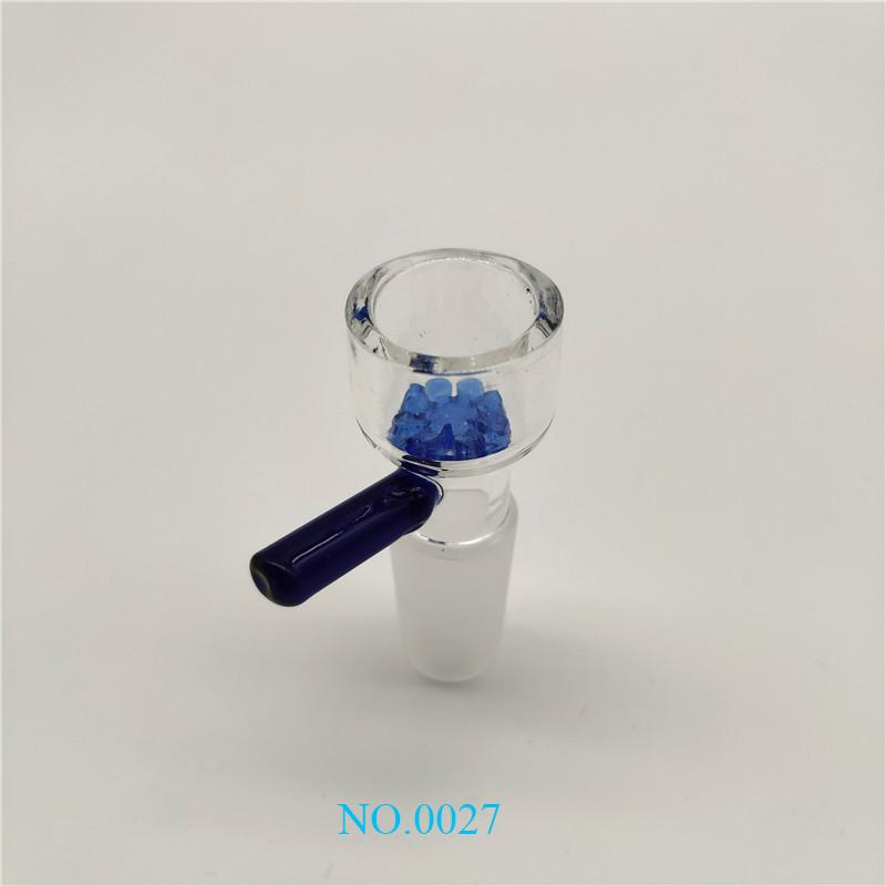 Hotsale Popular Glass Bowl Holder 14mm /18mm Male with Small Flower Bottom Bowls for Glass Bongs Oil Rigs Water Pipes za